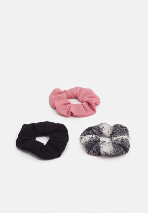 3 PACK - Hair styling accessory - black/pink