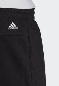 adidas Performance - ESSENTIALS SLIM LOGO SHORTS (PLUS SIZE) - Pantalón corto de deporte - black/white - 4
