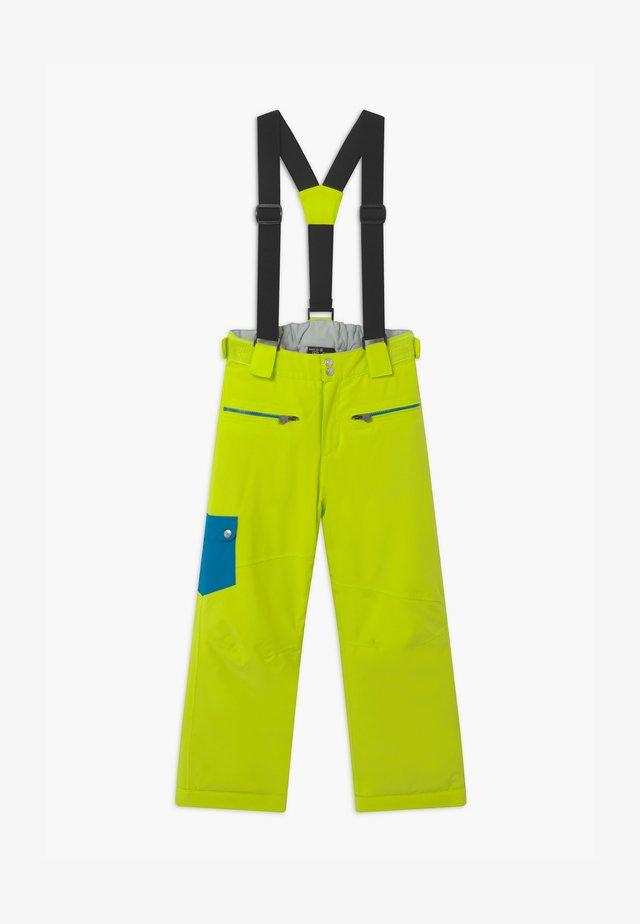 TIMEOUT UNISEX - Spodnie narciarskie - lime/petrol