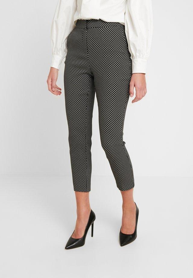 SPOT TROUSERS - Spodnie materiałowe - black