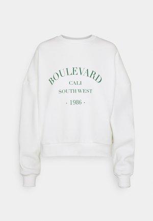 PRINTED CHUNKY - Sweater - white