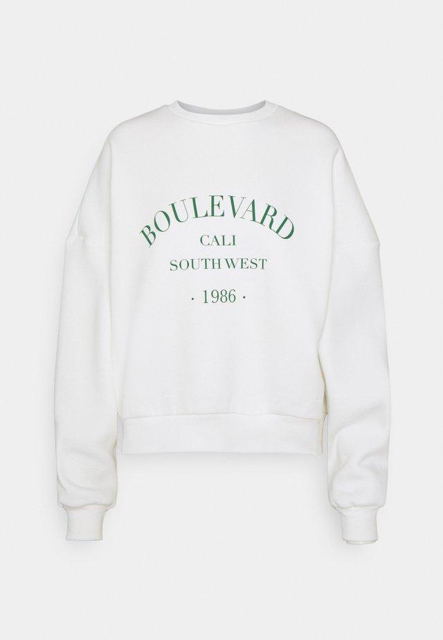 PRINTED CHUNKY - Sweatshirt - white