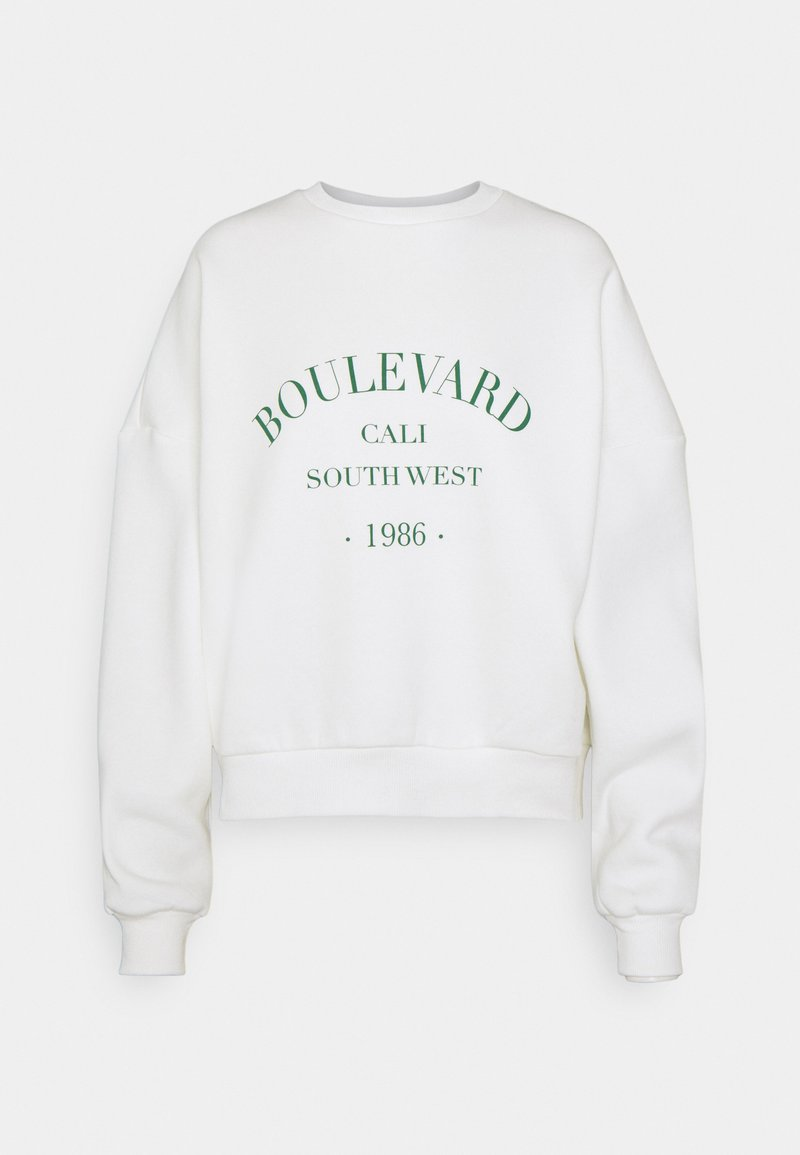 Nly by Nelly - PRINTED CHUNKY - Sweatshirt - white