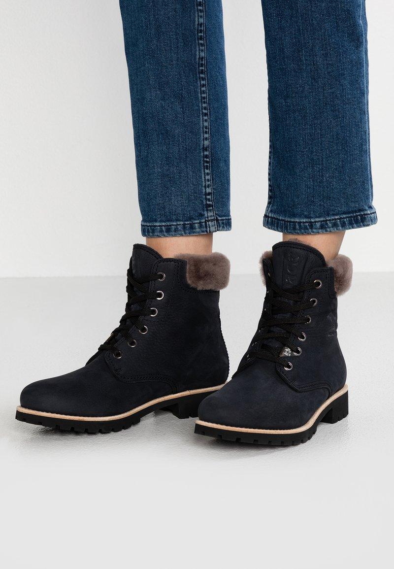 Panama Jack - IGLOO - Lace-up ankle boots - black