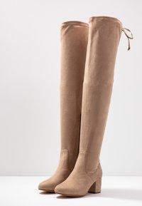 Anna Field - Kozačky nad kolena - sand - 4