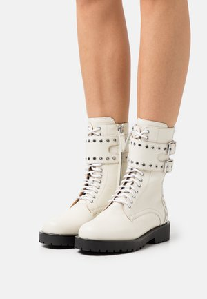 ANFIBIO MICRO OCCHIELLI - Lace-up ankle boots - neve