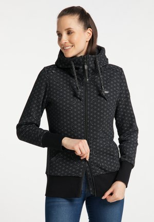 NESKA PRINT ZIP UPGRADE - Zip-up sweatshirt - black