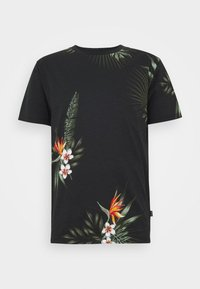 Jack & Jones PREMIUM - JPRHOLIDAY TEE CREW NECK - T-shirt print - black - 4