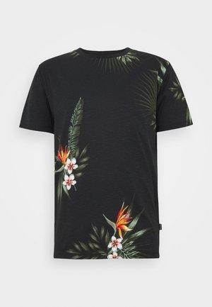 JPRHOLIDAY TEE CREW NECK - Print T-shirt - black