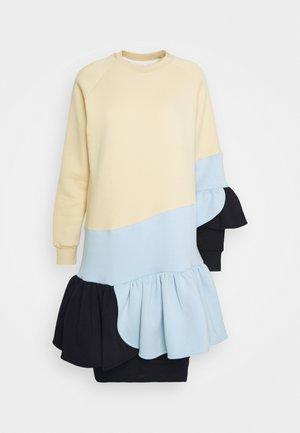 SOFT CANDY DRESS - Robe d'été - nude/light blue/dark blue