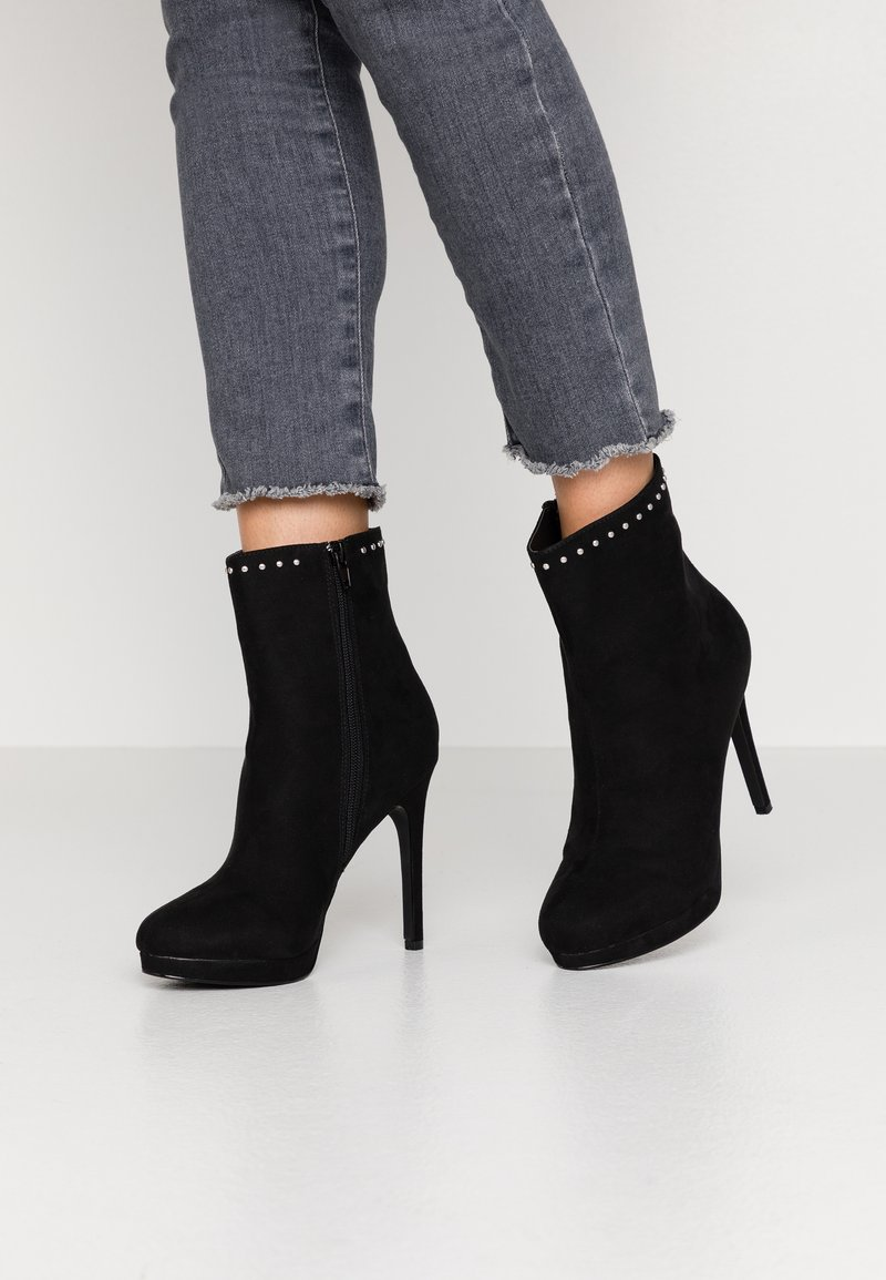 Nly by Nelly - STUDDED PLATFORM BOOT - High heeled ankle boots - black