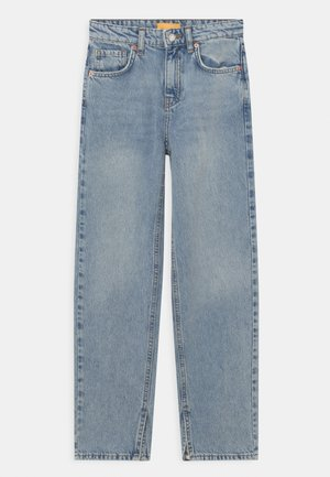 Jeans straight leg - blue slit