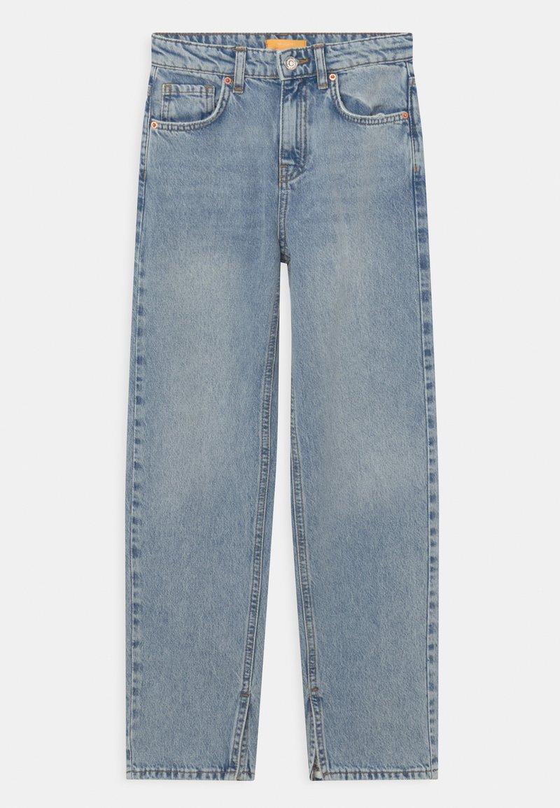 Gina Tricot Mini - Jeans Straight Leg - blue slit
