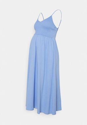 PCMTILY SMOCK MIDI DRESS - Jersey dress - vista blue