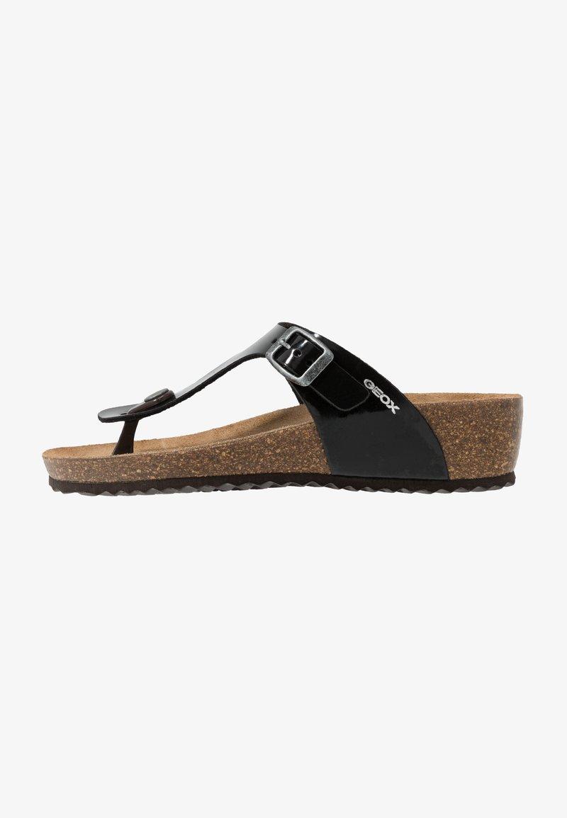 Geox - STHELLAE - Sandály s odděleným palcem - black