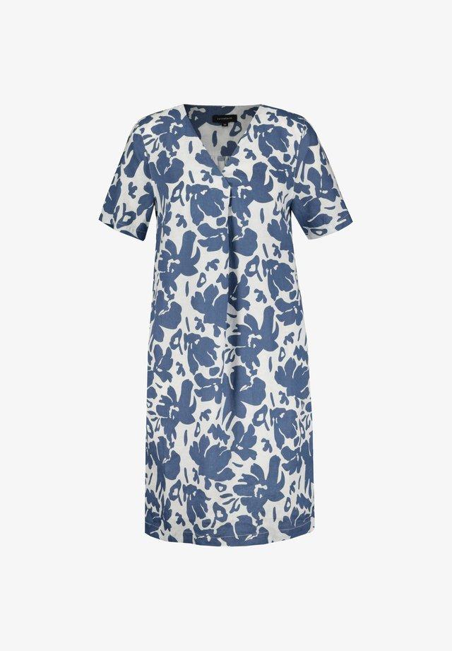 Shirt dress - smokey blue