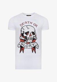Ed Hardy - DEATH-STUD T-SHIRT - Print T-shirt - white - 2