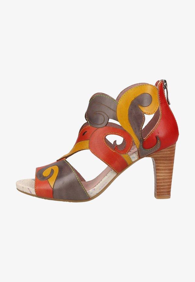 Sandalen met plateauzool - gris