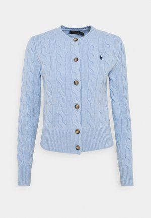 CARDIGAN LONG SLEEVE - Strickjacke - light blue heather