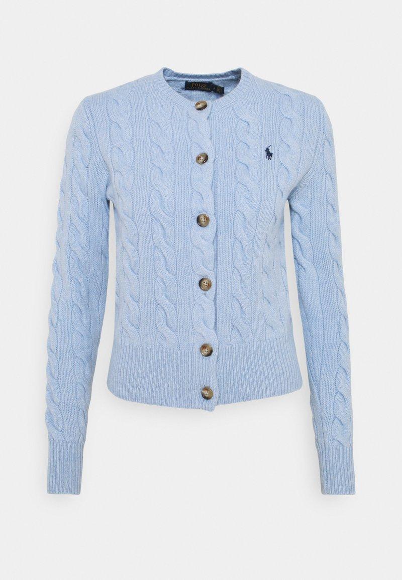 Polo Ralph Lauren - CARDIGAN LONG SLEEVE - Kardigan - light blue heather