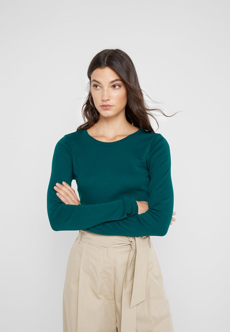 J.CREW - SLIM PERFECT  - Long sleeved top - academic green