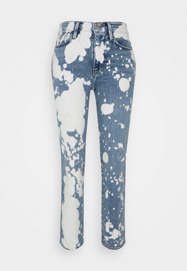 LE SYLVIE - Džíny Straight Fit - blue denim