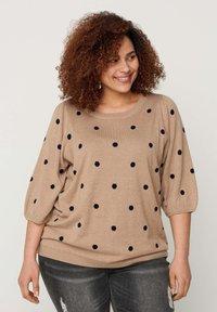 Zizzi - Sweatshirt - beige - 0