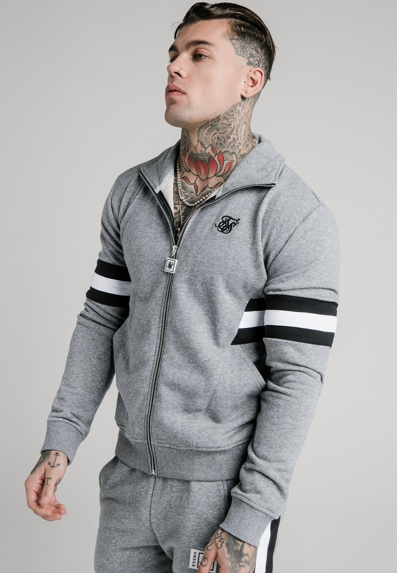 SIKSILK - LUXE ZIP THROUGH FUNNEL NECK - Sudadera con cremallera - grey