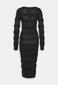 Missguided Tall - CUT OUT NECK MIDI DRESS - Sukienka dzianinowa - black - 1