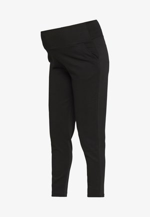 RELAXED SOFT PONTE PANT IN FULL LENGTH - Pantalones - black