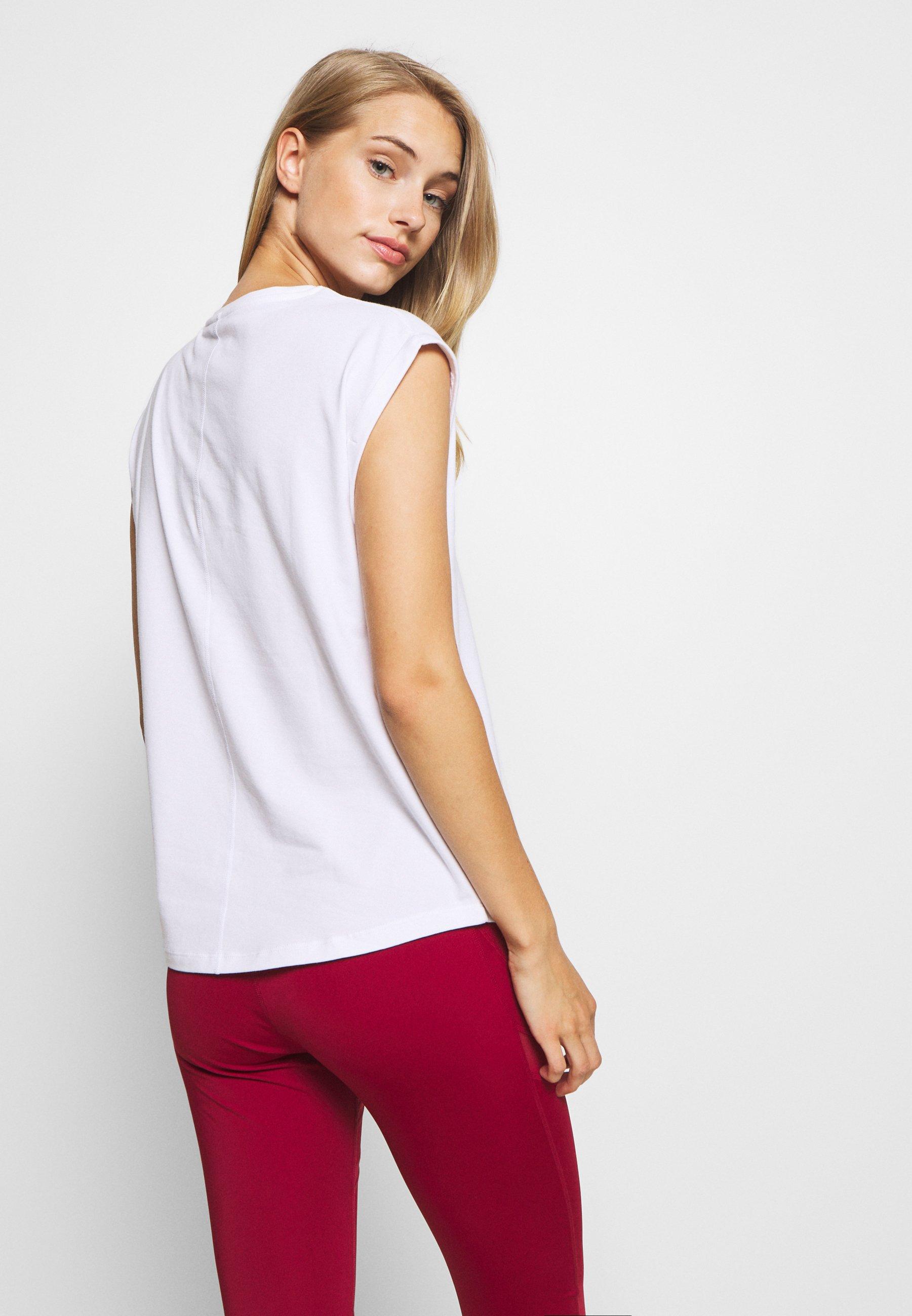 Even&Odd active 2 PACK - Basic T-shirt - white/black 2eIMc