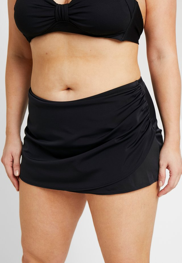 ESSENTIALS WRAP SKIRTED BRIEF - Bikini bottoms - black