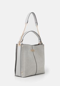 River Island - EMBOSSED GREY SLOUCH - Handbag - grey - 1