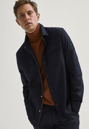 WITH POCKETS - Light jacket - blue-black denim