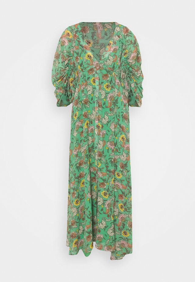 EARTHFOLK - Vestido largo - green combo