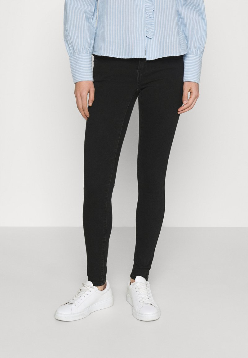 ONLY - ONLCORAL LIFE POWER BOX - Jeans Skinny Fit - black