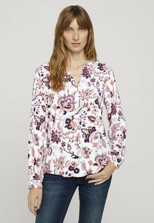 T-shirt à manches longues - cream paisley design