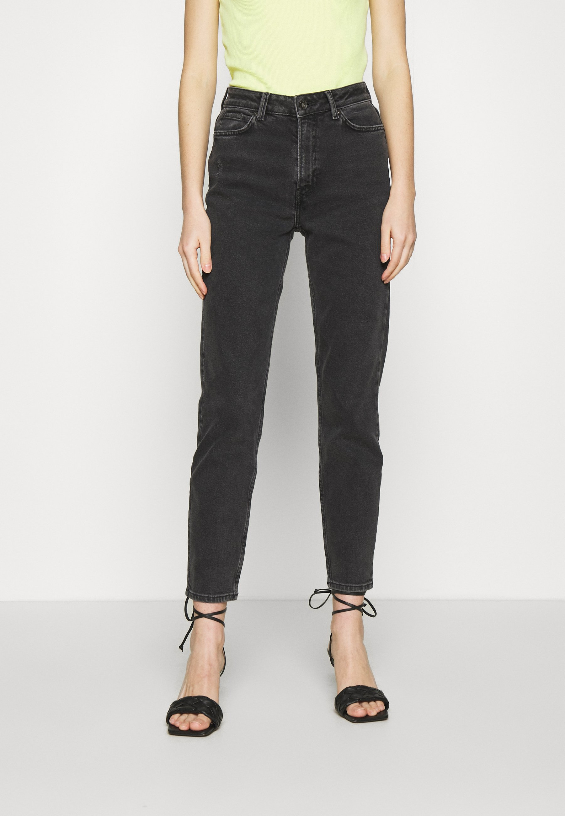 Pieces PCNIMA - Jeans straight leg - black denim
