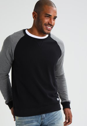 Sweater - grey melange/black