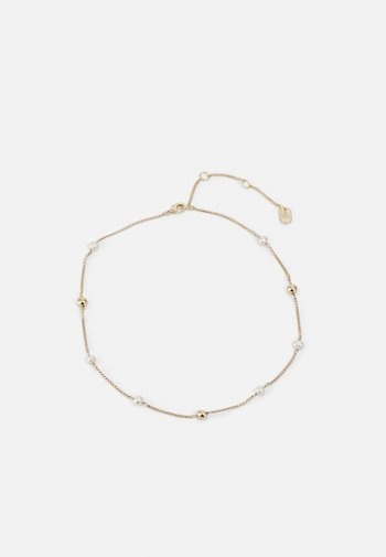 BALL - Necklace - gold-coloured/white