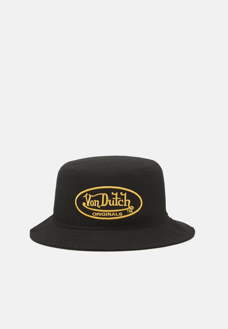 Von Dutch - BUCKETOVAL LOGO UNISEX - Hatt - black