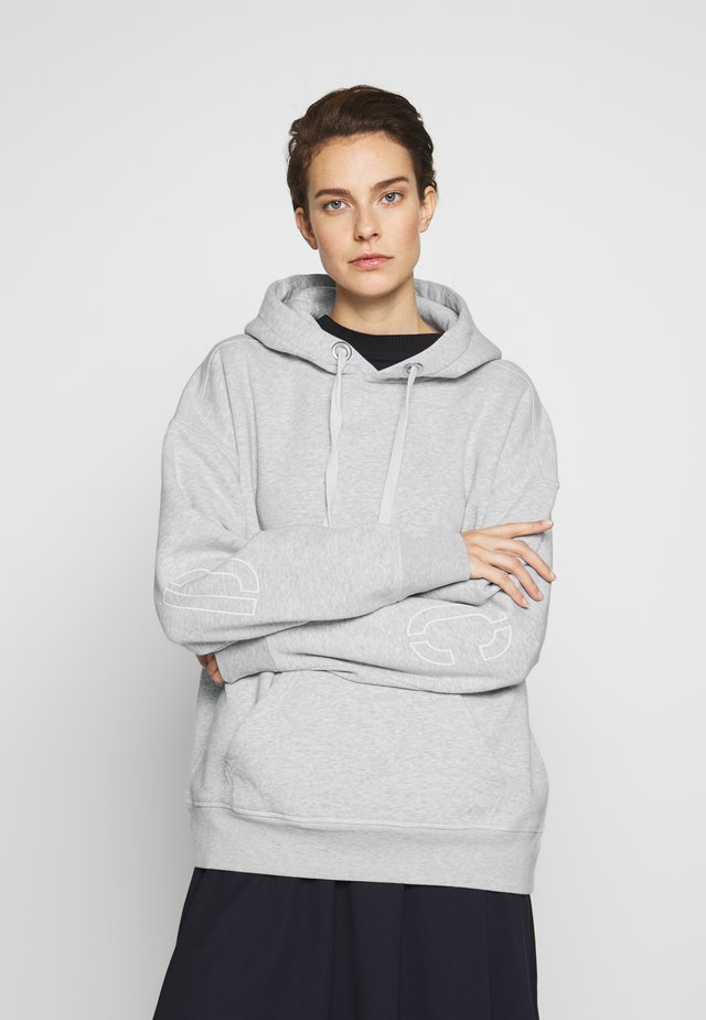WOMEN - Bluza z kapturem - light grey melange
