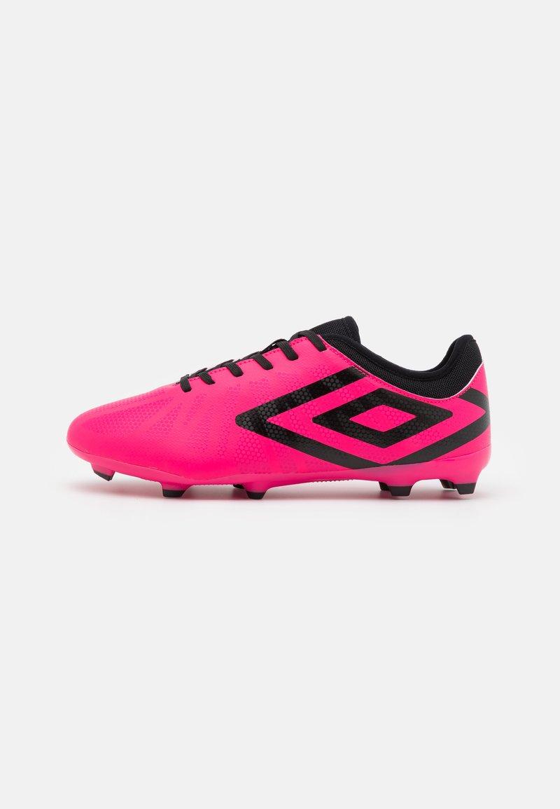 Umbro - VELOCITA VI CLUB FG - Moulded stud football boots - pink peacock/black/white