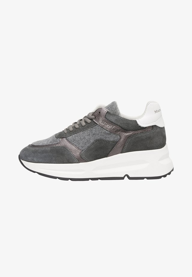 AUS HOCHWERTIGEM MATERIAL-MIX - Sneakers laag - grey combi