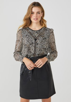 TERRY SCRATCHED RPET 535 - Blouse - noisette