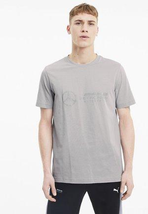 LOGO TEE - T-shirt med print - team silver