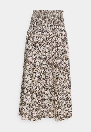 FORBIDDEN FORREST SKIRT - Maxi skirt - black/pink