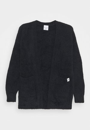 LONG FUZZY - Cardigan - black
