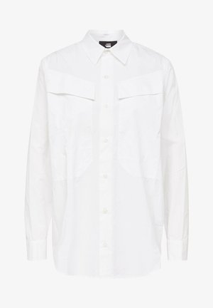 REGULAR CARGO LONG SLEEVE - Button-down blouse - white