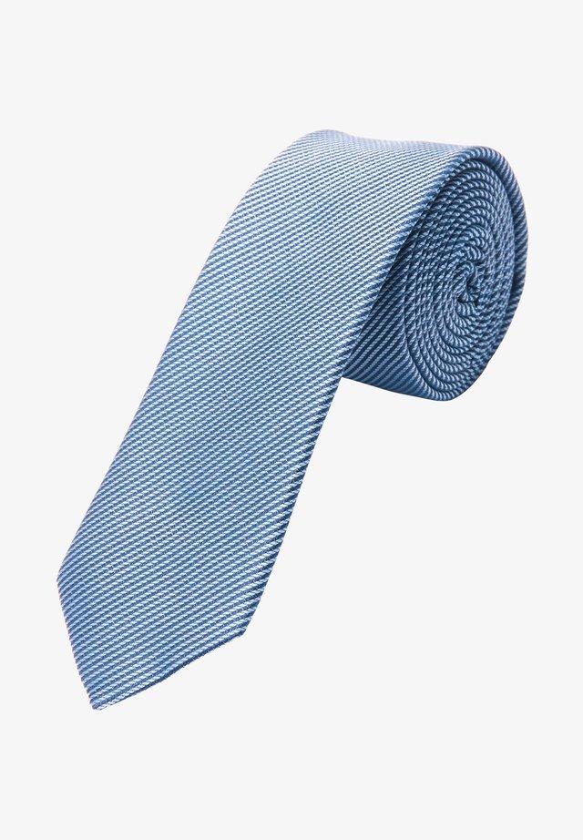 MIT DIAGONALSTREIFEN - Tie - blue stripes